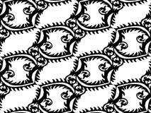 Naadloos Abstract Zwart-wit Bloemenpatroon Exclusieve Decoratie Geschikt voor textiel, stof en verpakking Stock Afbeelding