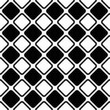 Naadloos abstract zwart-wit vierkant netpatroon - halftone vectorontwerp als achtergrond van diagonale rond gemaakte vierkanten Stock Fotografie