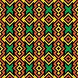 Naadloos Afrikaans Patroon Stock Afbeelding