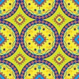 Naadloos Afrikaans Patroonontwerp in Geel voor Stoffen en Textiel Stock Fotografie