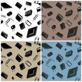 Naadloos in al richtingen Elektronische componenten en het schakelschema vector illustratie