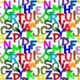 Naadloos alfabet Stock Foto's