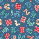 Naadloos alfabetpatroon. Stock Afbeeldingen