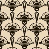 Naadloos antiek patroonornament Geometrische art deco modieuze bedelaars Royalty-vrije Stock Fotografie
