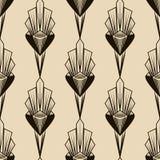 Naadloos antiek patroonornament Geometrische art deco modieuze bedelaars Royalty-vrije Stock Afbeelding
