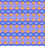 Naadloos Arabisch geometri abstract 3d blauw roze patroon Royalty-vrije Stock Afbeeldingen