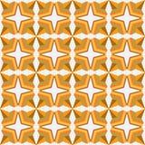 Naadloos Arabisch geometrisch 3d abstract geel hoofdkaaspatroon Royalty-vrije Stock Foto