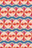 Naadloos Arabisch geometrisch 3d abstract rood blauw patroon Royalty-vrije Stock Afbeelding