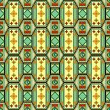 Naadloos Arabisch patroon Stock Afbeelding