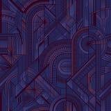 Naadloos art deco geometrisch purper patroon vector illustratie