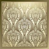 Naadloos Art Nouveau Stock Afbeeldingen