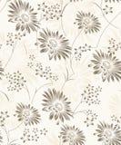 Naadloos artistiek bloemenbehang stock illustratie