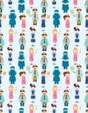 Naadloos arts en verpleegster patroon Stock Afbeelding