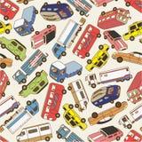Naadloos autopatroon Royalty-vrije Stock Afbeelding