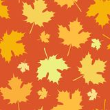 Naadloos Autumn Pattern met Bladerendaling stock illustratie