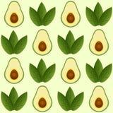 Naadloos avocadopatroon Stock Fotografie