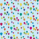 Naadloos ballonspatroon stock illustratie
