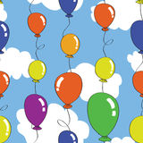Naadloos baloonpatroon Stock Afbeeldingen