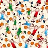 Naadloos basketbalpatroon Stock Foto