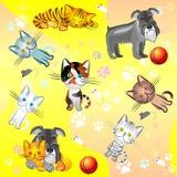 Naadloos beeld op een huisdierenthema stock illustratie