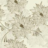 Naadloos behang met bloemen Royalty-vrije Stock Foto