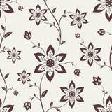 Naadloos behang met bloemen Royalty-vrije Stock Fotografie