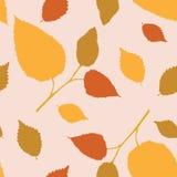 Naadloos behang met de herfsttakken Stock Afbeelding