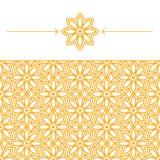 Naadloos behang met geometrisch, lineair patroon Royalty-vrije Stock Foto's