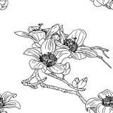 Naadloos behang met orchideebloemen royalty-vrije illustratie