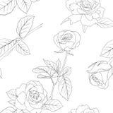 Naadloos behang met roze bloemen royalty-vrije illustratie
