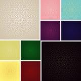 Naadloos behang - reeks van tien kleuren. Royalty-vrije Stock Foto's