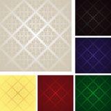 Naadloos behang - reeks van zes kleuren. Stock Foto's