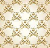 Naadloos behang uitstekend goud als achtergrond stock illustratie
