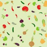 Naadloos behangpatroon met varous groenten vectorillustratie vector illustratie