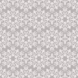 Naadloos beige bloemenbehang Stock Afbeeldingen