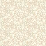 Naadloos beige bloemenpatroon Vector illustratie Stock Afbeelding