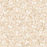 Naadloos beige bloemenpatroon Vector illustratie Royalty-vrije Stock Afbeeldingen