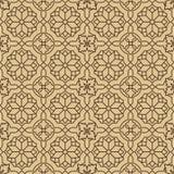 Naadloos beige Patroon op Witte Achtergrond Royalty-vrije Stock Afbeeldingen