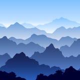 Naadloos berglandschap Stock Afbeelding