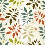 Naadloos bladerenbehang Stock Fotografie