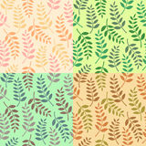Naadloos bladerenpatroon Royalty-vrije Stock Afbeelding