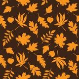 Naadloos bladerenpatroon Royalty-vrije Stock Afbeeldingen