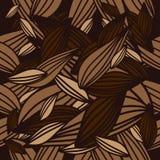 Naadloos bladpatroon als achtergrond Stock Afbeelding