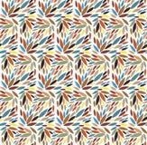 Naadloos bladpatroon Vector illustratie Stock Afbeelding