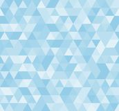 Naadloos blauw abstract patroon Geometrische die druk uit driehoeken en veelhoeken wordt samengesteld Achtergrond Royalty-vrije Stock Foto