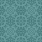 Naadloos blauw cirkelpatroon Stock Afbeeldingen