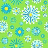 Naadloos blauw kamillespatroon Royalty-vrije Stock Foto's