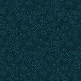 Naadloos blauw kantpatroon Royalty-vrije Stock Foto