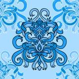 Naadloos blauw lintpatroon Vector illustratie vector illustratie