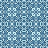 Naadloos blauw patroon. Stock Afbeeldingen